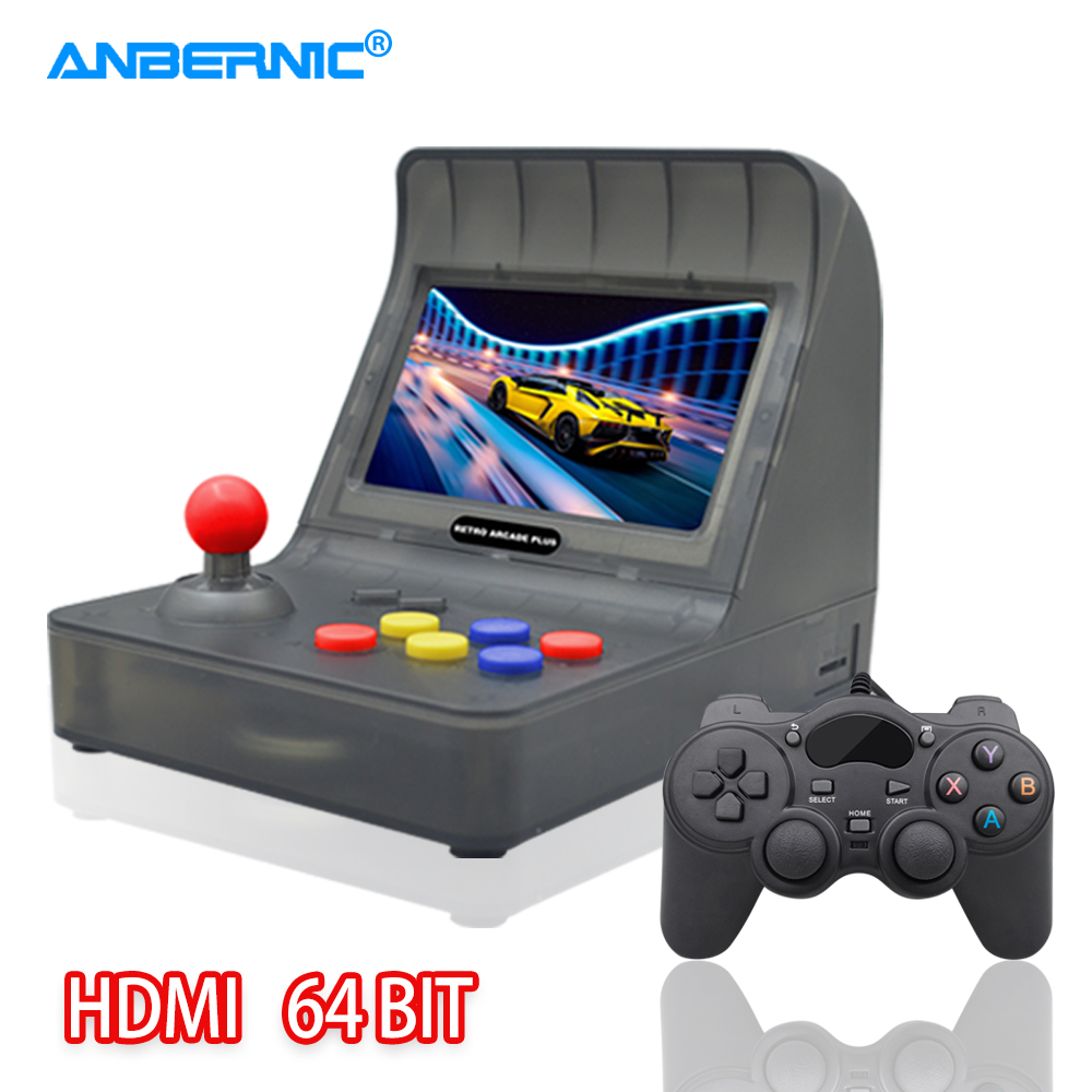 ANBERNIC Retro Arcade Plus Handheld Game Console 64Bit HDMI 3000 Games 4.3 IPS Screen Arcade Game Box Machine & Android Gamepad image