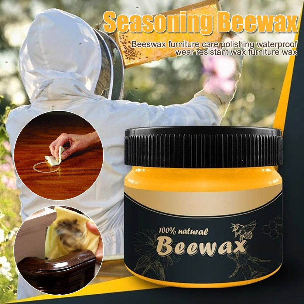 Wood Beewax  Oil Wood Care Wax Solid Wood Maintenance Cleaning Polished Waterproof Wear-Resistant Wax Furniture Care