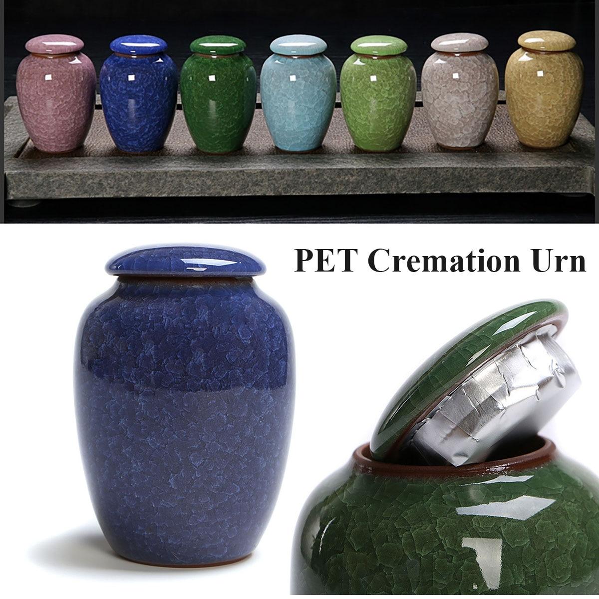 Urnes de crémation de glaçure glacée | Urne de souvenir funéraire, chien de compagnie, chat, crémation de 200ml