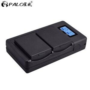 Image 1 - LP cargador inteligente de doble ranura para cámara Canon, cargador inteligente de doble ranura para cámara Canon EOS 1100D 1200D 1300D Kiss X50 X70 X80 Rebel T3 T5, LP E10 LPE10