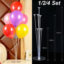 2019 Brand New  Balloon Stand Clear Column Display Arch Frame Base Pole for Wedding Party Decor Accessories
