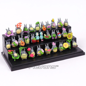 Image 4 - جارتي توتورو Kawaii شخصيات بلاستيكية صغيرة Brinquedo وعاء الديكور دمى اللعب 30 قطعة/المجموعة