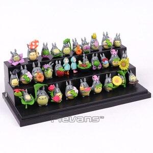 Image 4 - My Neighbor Totoro Kawaii Mini PVC Figures Brinquedo Pot Decoration Dolls Toys 30pcs/set