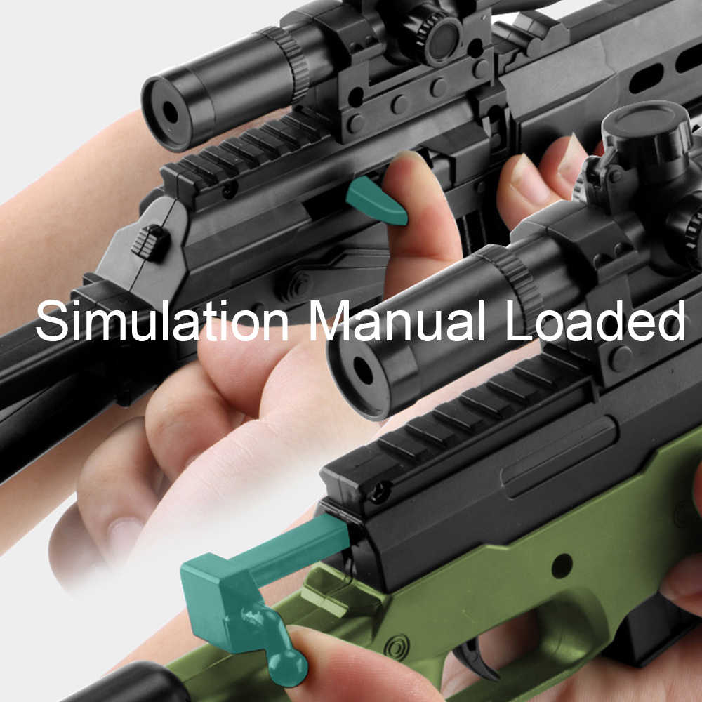 Mainan Luar Ruangan Anak-anak Senjata Senjata AK47 Groza 98K Senapan Pistol Airsoft Senjata Udara Model Plastik Manual Shooting Paintball Gun anak Laki-laki Mainan