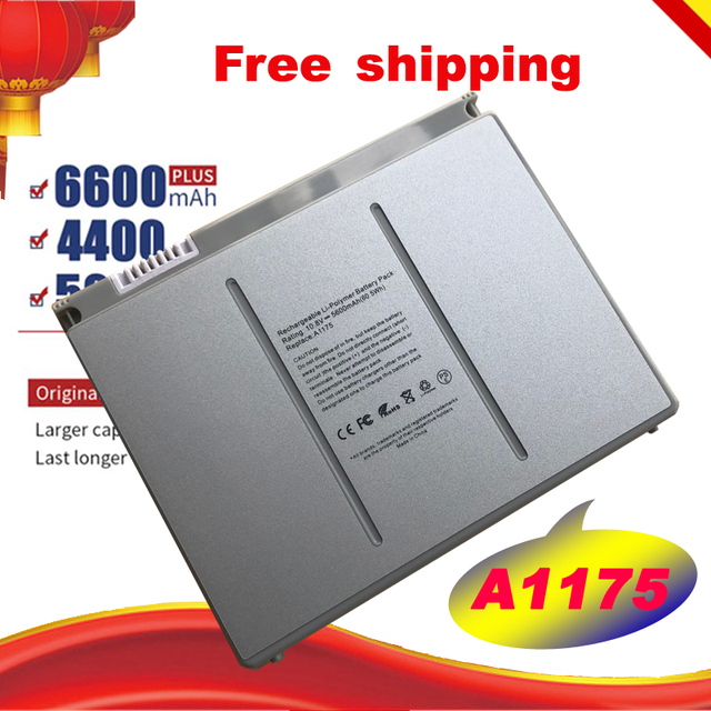 "Free shipping Replacement Laptop Battery A1175 MA348 For Apple MacBook Pro 15"" A1150 A1260 MA463 MA464 MA600 MA601 MA610 MA609"