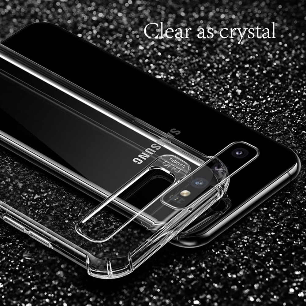 Darbeye dayanıklı samsung kılıfı Galaxy S8 S9 S10 artı not 8 9 10 Pro M30 A10 A20 A30 A40 A50 J8 2018 yumuşak silikon kapak Coque