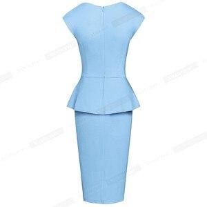 Image 4 - Nice pour toujours, tenue de soirée élégante, moulante, couleur unie, pour le bureau, pour femmes, B580