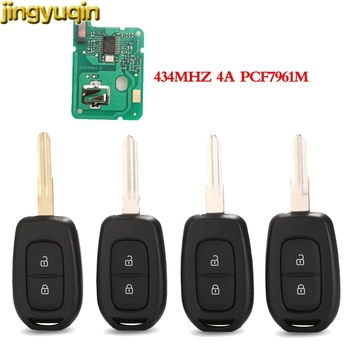 jingyuqin Remote Car Key 433MHZ PCF7961M 4A Chip for Renault Sandero Dacia Logan Lodgy Dokker Duster Trafic Clio4 Master 3 2BTN car styling metal car sticker accessories case for dacia duster logan sandero lodgy pads interior accessories car styling