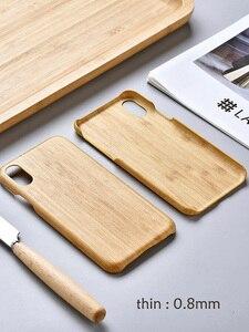Image 3 - Yerli doğa gerçek bambu telefon iphone için kılıf 11 Pro Max XS MAX XR XS X kapak