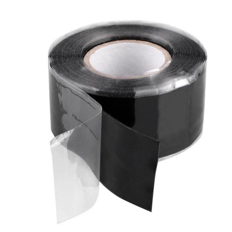 1,5/3 м самоклеющиеся силиконовые ленты черный самофлюсующихся Водонепроницаемый пояс лента супер сильного ремонта трубы печать ремонт упло...