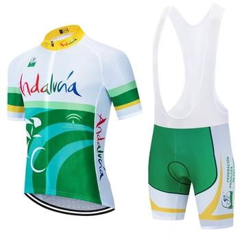 2020 Neue Team Andaluza Radfahren Jersey 20D Bike Shorts Set Ropa Ciclismo HERREN MTB Sommer PRO RADFAHREN Maillot Unteren Kleidung