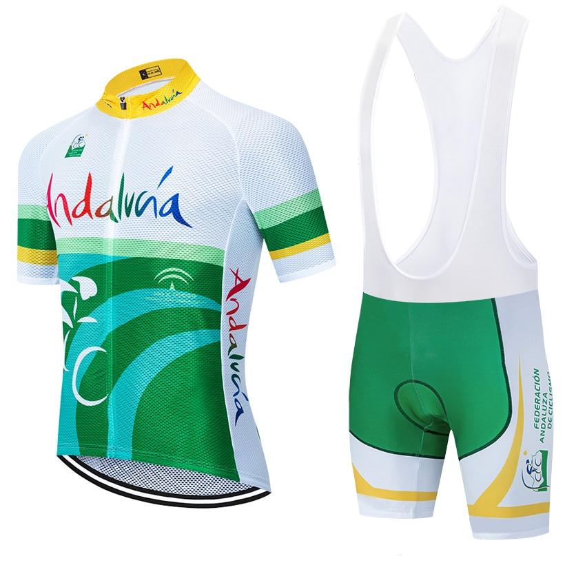 2020 New Team Andaluza Cycling Jersey 20D Bike Shorts Set Ropa Ciclismo MENS MTB Summer PRO BICYCLING Maillot Bottom Clothing