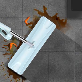 Płaski Mop zestaw darmowe mycie rąk uchwyt ze stali nierdzewnej Mop obrotowy dom dom biuro urządzenia do oczyszczania z mikrofibry Pad piętro czyste tanie i dobre opinie CN (pochodzenie) Tkanina z mikrofibry 20-30 sekund Kosz z tworzywa sztucznego + metal pedał 90 -100 300 ml Typ przesuwne
