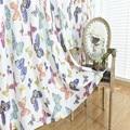 Занавески с принтом бабочки 100 см * 250 см  Затемненные окна  панель для спальни  кухни  готовые прозрачные Занавески Из вуали для гостиной