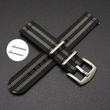 цены Striped Nato Strap for Army Sport Watch NATO Watchband Nylon Strap 20mm 22mm Striped Replacement Band Watch For James Bond 007