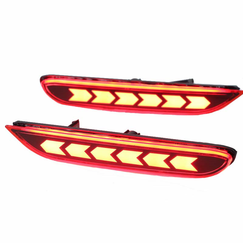 Rear bumper <font><b>led</b></font> fog light for <font><b>nissan</b></font> <font><b>x</b></font> <font><b>trail</b></font> <font><b>x</b></font>-<font><b>trail</b></font> brake reversing turn signal lamp 2 function taillights assembly 2014-2016 image