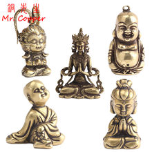 Vintage Rame Statua di Buddha Cinese Super Hero Monkey King Figurine Ornamenti In Ottone Scrivania A Casa Decorazioni Accessori Artigianato(China)