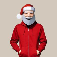 Paper-Mask Cosplay DIY 3D Halloween Costume Party-Gift Christmas Santa-Claus Fashion