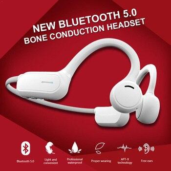 5.0 Sports Bone Conduction Headphone Waterproof Running Earphone Cycling Headset Wireless Stereo Headset