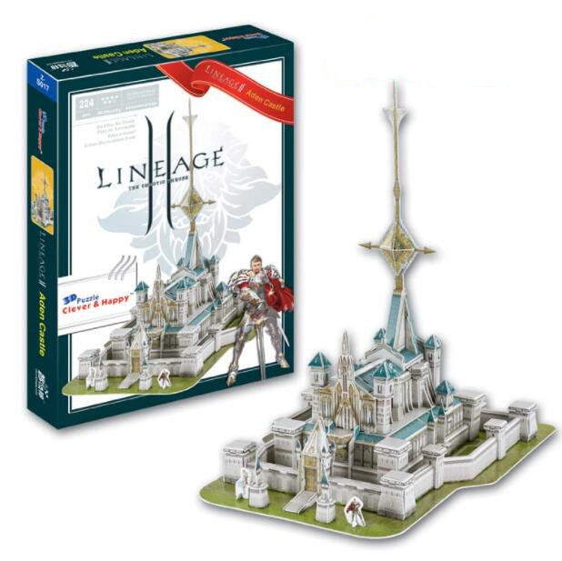 Lineage 2 Aden Castle Education 3D Paper DIY Jigsaw 3455 Puzzle Model Educational Toy Kits Children Boy Gift Toy
