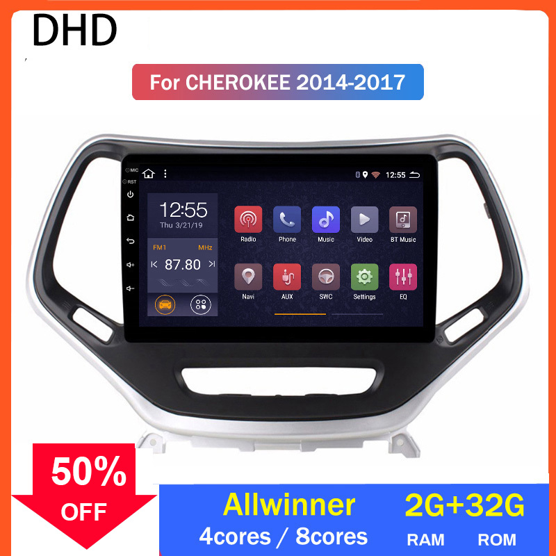 Android 10.0 Car GPS Multimedia For Jeep Grand Cherokee 2014 Touch Screen Head Unit Wifi Bluetooth Radio Allwinner Processor image