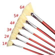 1шт% 2F1set красный ручка держатель краска кисть разные размер веер кисти акварель% 2FOil живопись гуашь рисунок школа офис принадлежности