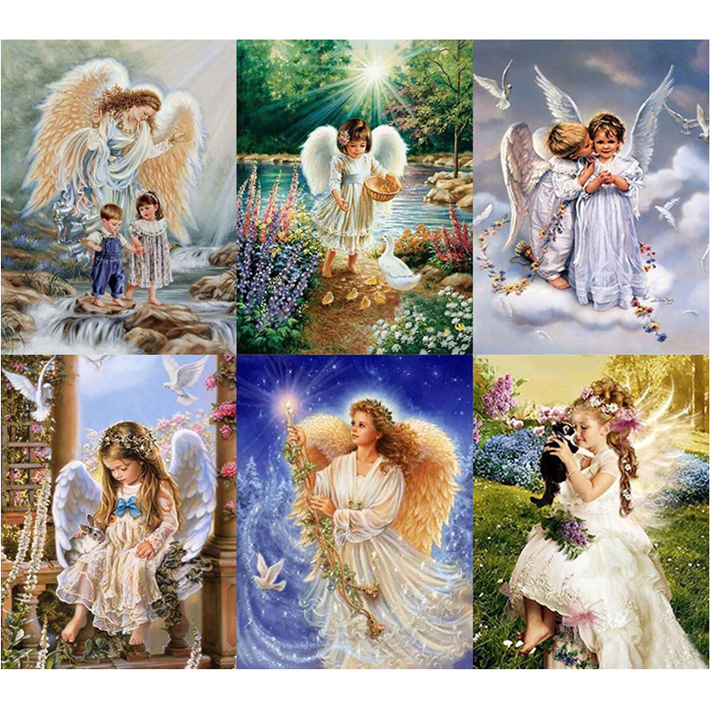 Angel Girl 5D Diamond Painting DIY Embroidery Cross Crafts Stitch Home Décor