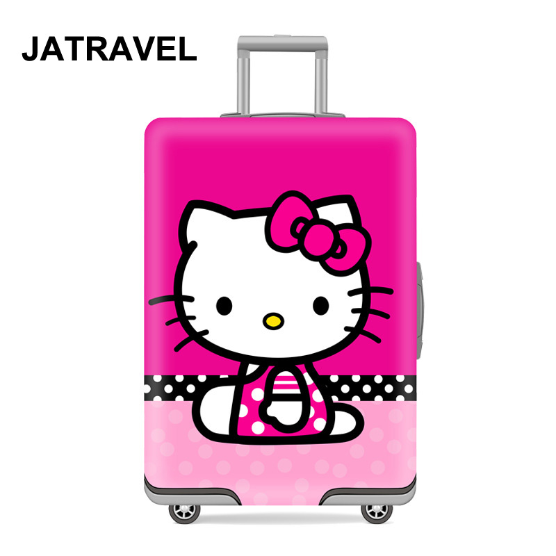 JATRAVEL Cat Travel Luggage Protective Cover Suitcase Case Travel Accessorie Elastic Luggage Cover Apply To 18-32inch Suitcase