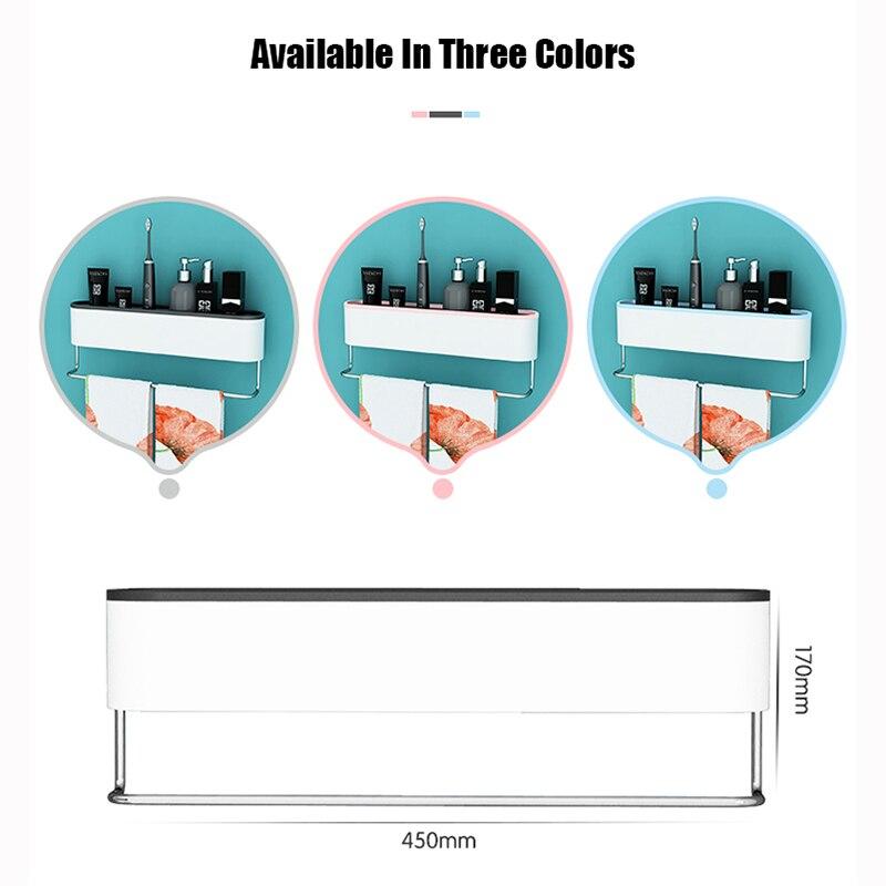 ONEUP Wall Bathroom Shelf Shampoo Cosmetic Shower Shelf Drainage Storage Rack Home WC Bathroom Accessories Towel Storage Rack 2
