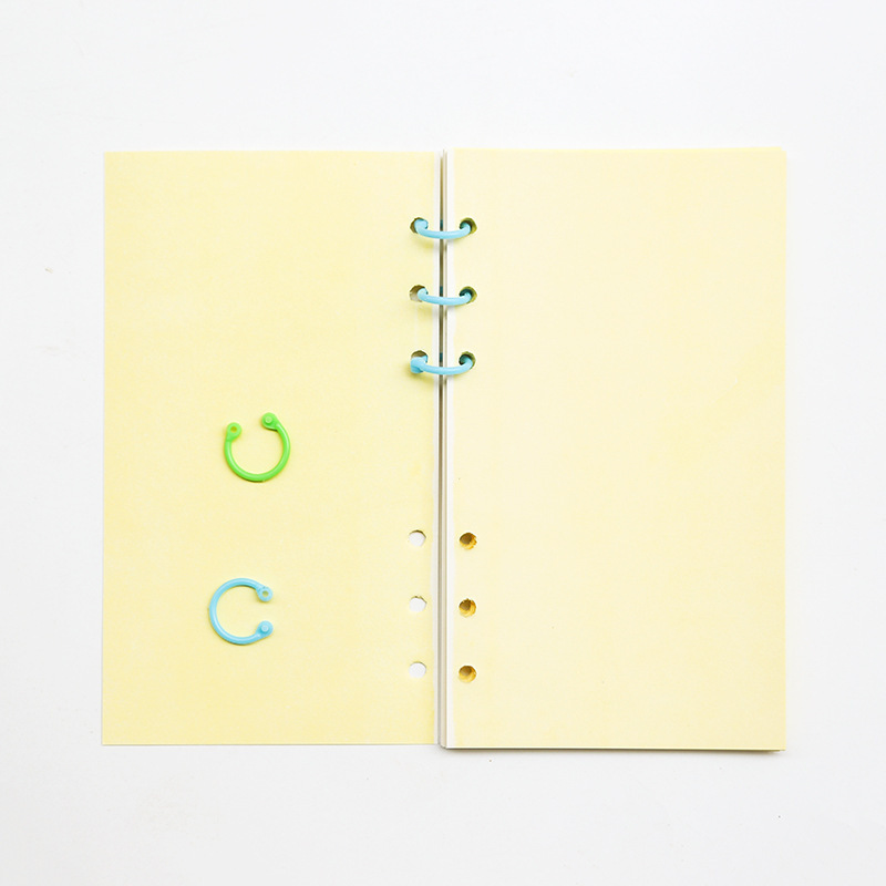 Colored PP Binding Ring Loose Leaf Files Collection Cell Binder Clips 3Size Paperclips DIY Planner Clips Notebook Accessory
