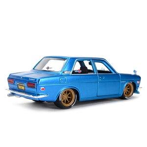 Image 3 - Maisto 1:24 Nissan 1971 Datsun 510 samochód sportowy statyczny odlew pojazdów Model kolekcjonerski samochody zabawkowe