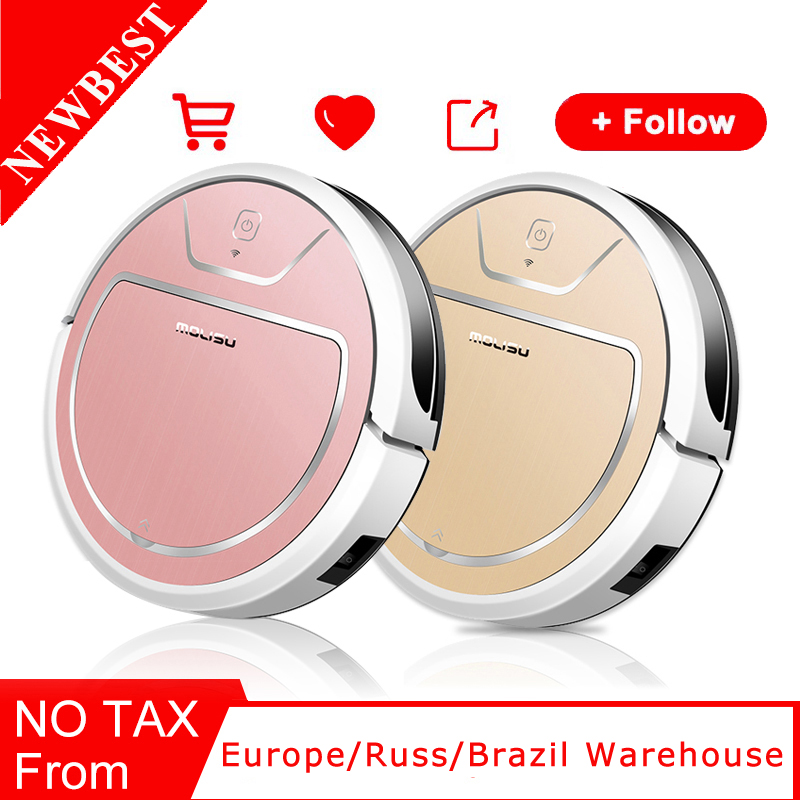 ROBOT VACUUM CLEANER Dry and wet 2000 Pa suction Intelligent navigation APP control 350 ML Electronic water tank Suction sweep image