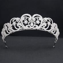Pretty Cubic Zirconia Royal Replica Tiara for Wedding,Crystal Princess Tiaras Diadem for Girl,Prom,Party Head Jewelry CH10384