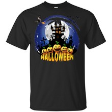 Homens Molde De Halloween Fazer Com Castelo S-6Xl Assombrado T-Shirt Tamanho Grande Altura Tee Camisa