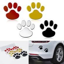 2 adet/takım araba Sticker serin tasarım pençe 3D hayvan köpek kedi ayı ayak izleri ayak izi çıkartma araba çıkartmaları gümüş kırmızı siyah altın