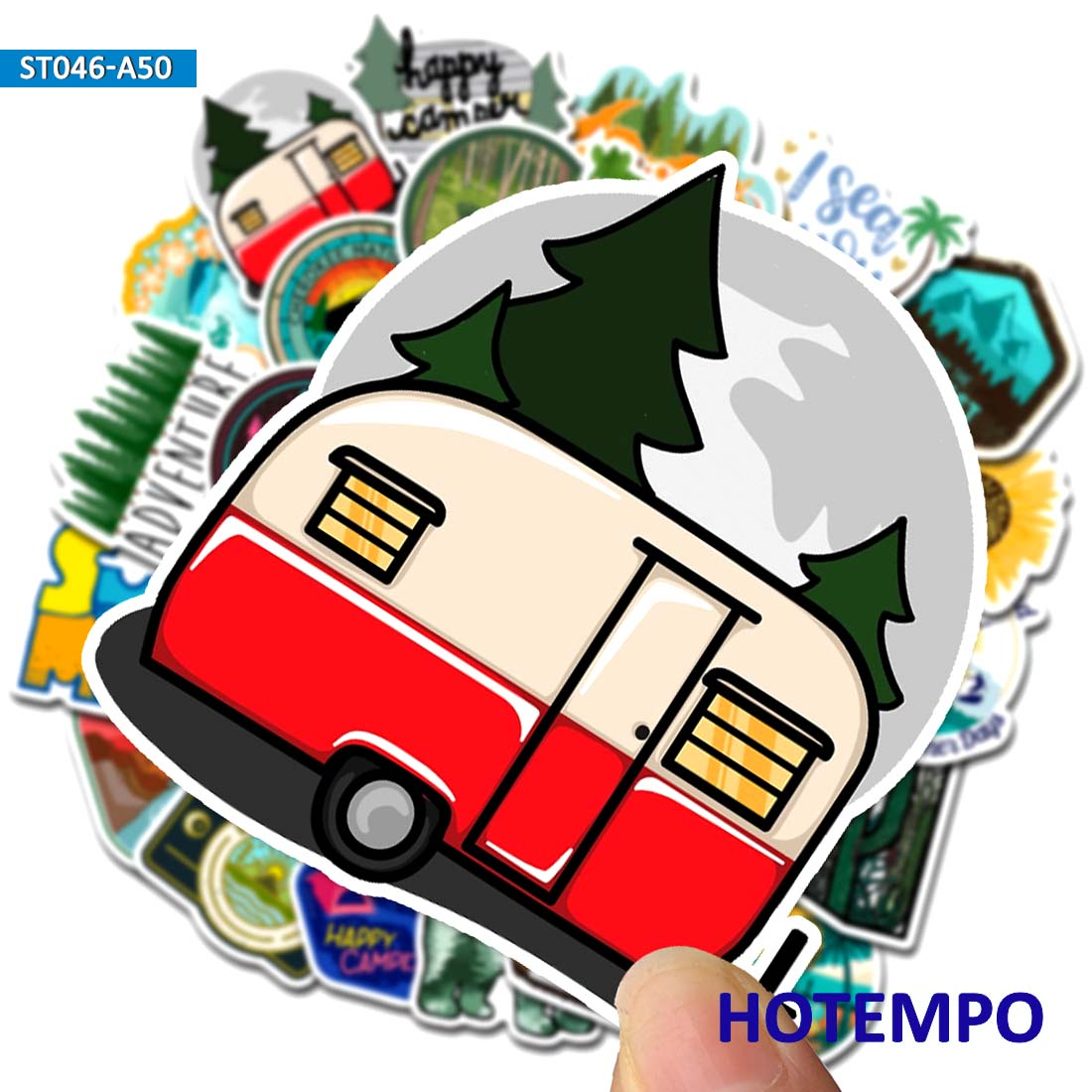 50pcs Outdoor Wild Expedition Stickers Adventure Camping Travel Landscape Stickers For Mobile Phone Laptop Luggage Bike Stickers