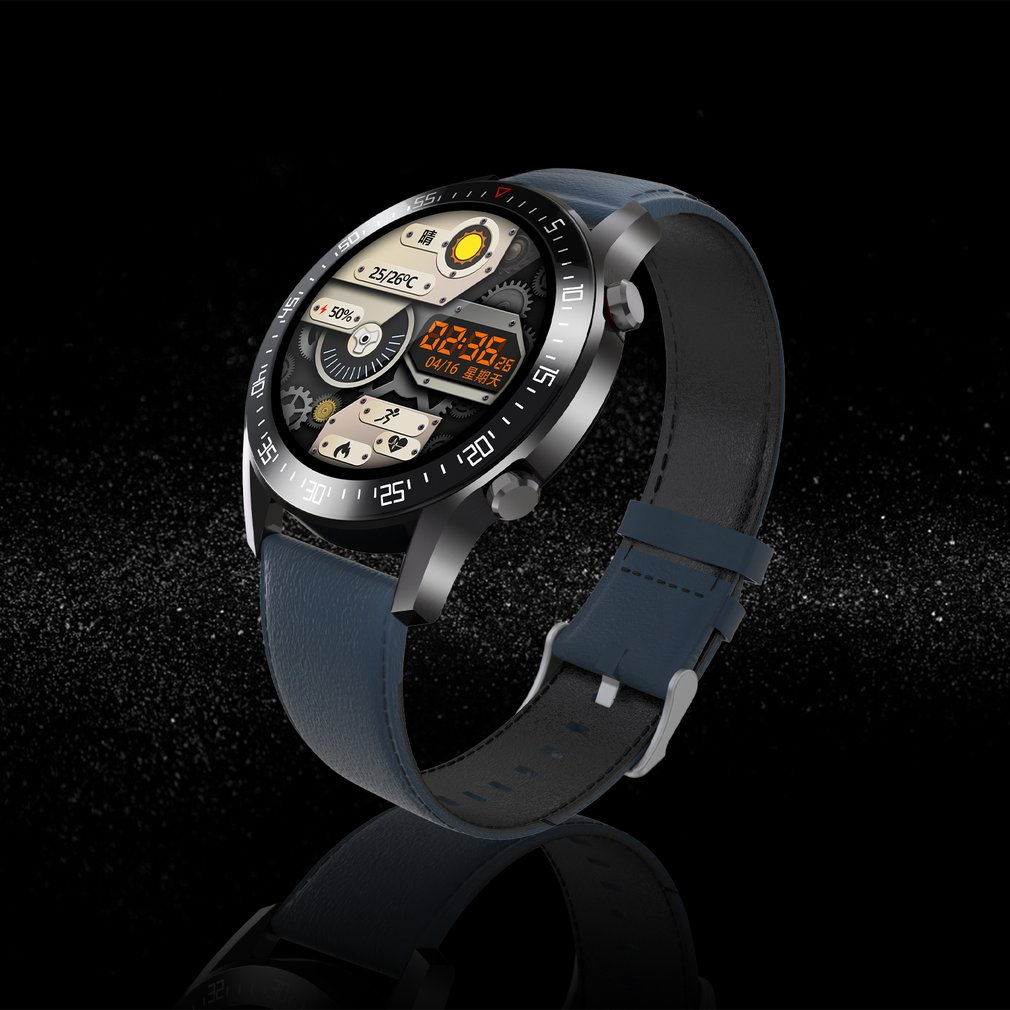 Ha0d256f66f274d45a2f5c72def69d582a C2 Smart Watch Round Dial Men Smartwatch Full Touch Screen Heart Rate Monitoring IP68 Waterproof Fitness Sports Watch