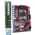 HUANANZHI X99 LGA2011-3 материнская плата с M.2 NVMe слот скидка материнская плата с ЦПУ Xeon E5 2678 V3 ram 64G (4x16G) 1866 регистровая и ecc-память