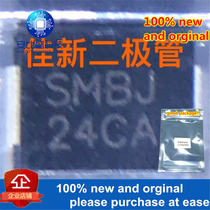 50pcs 100% New And Orginal SMBJ24CA 24V TVS DO214AA Surface Mount Transient Voltage Suppressors (TVS) In Stock