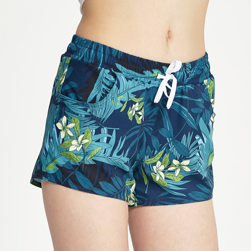 Sbart Couples Quick-Dry Beach Shorts Trend Printed Casual Holiday WOMEN'S Shorts Spandex Hot Springs Swimming Trunks