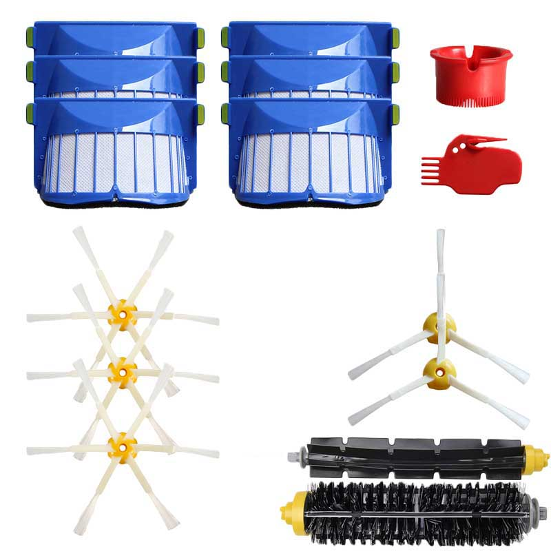Brush Filter Cleaning Tools set For IRobot Roomba 600 605 610 615 616 620 Vacuum Parts Cleaning Tools Accessories image