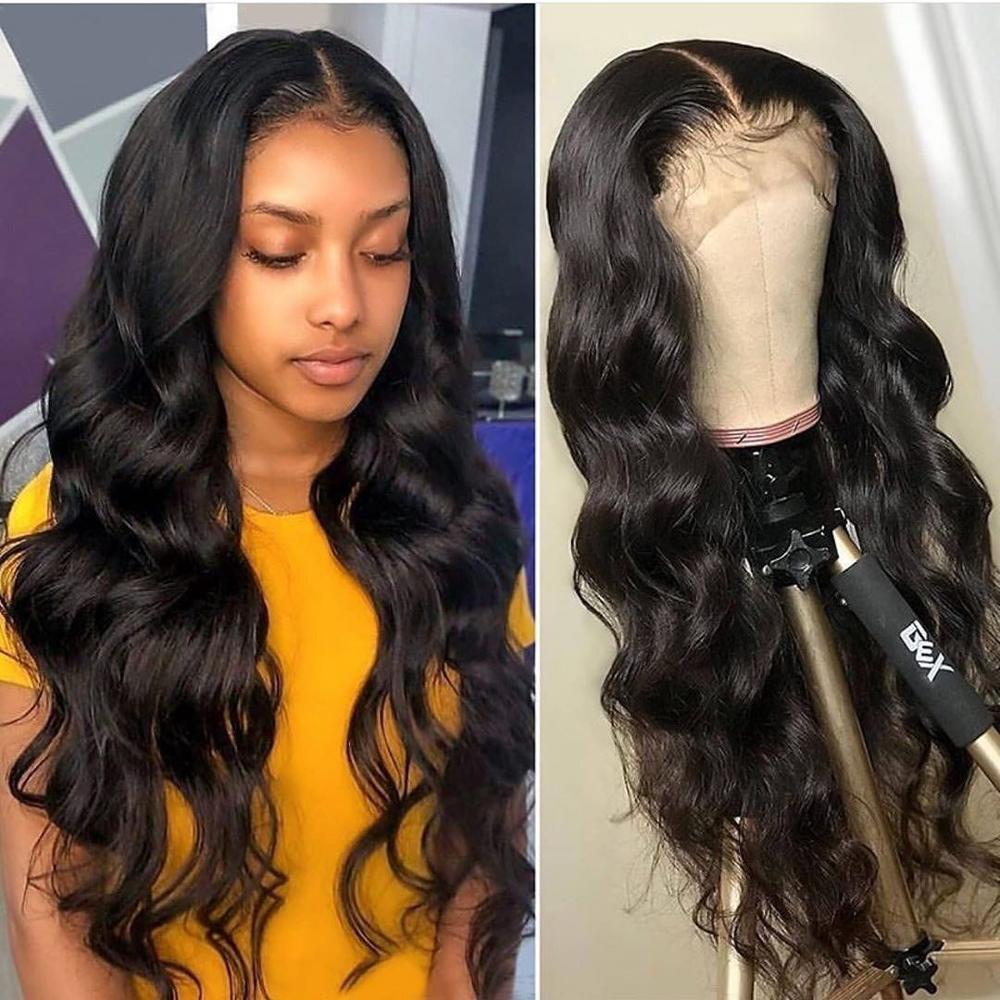 HD Transparent 13x4 Lace Front Wig Brazilian Body Wave Lace Front Human Hair Wigs Lace Frontal Wig Pre Plucked 8-28 Inches