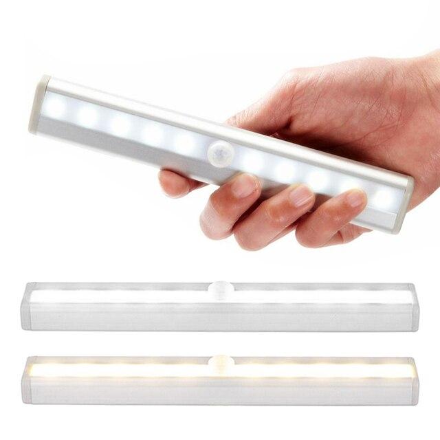 Фото pir светодиодный светильник с датчиком движения шкаф кровать цена