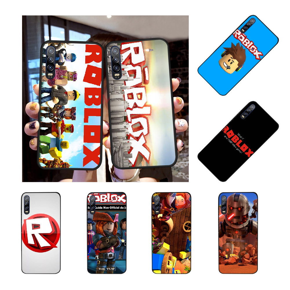 NBDRUICAI ألعاب Roblox شعار وصل حديثا الأسود هاتف محمول حافظة لهاتف huawei الشرف 20 10 9 8 8x 7c 8c 9x 7a لايت الرؤية