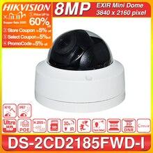 Hikvision Original IP Camera DS 2CD2185FWD I 8MP Network Dome POE IP Camera H.265 CCTV Camera SD Card Slot IK10 IP67