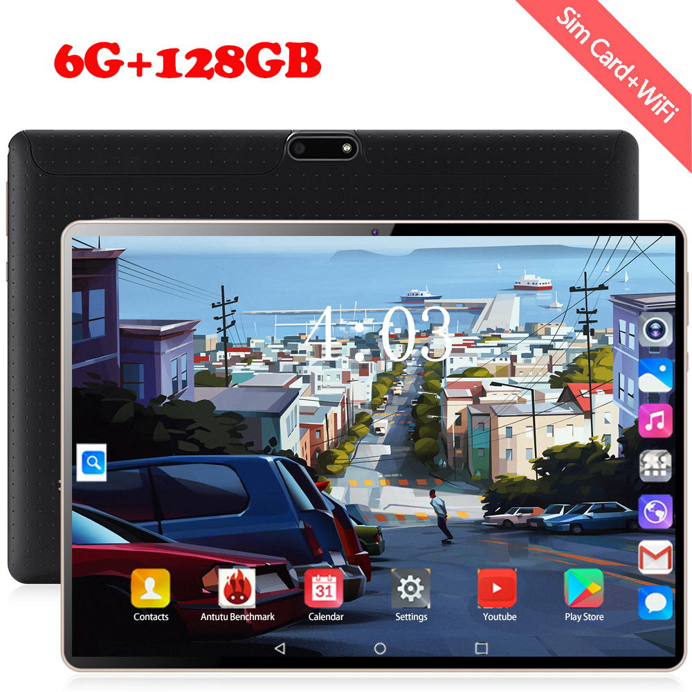 YAHU  New 10 Core 10 Inch Tablet Pc Android 8.0 1920*1200 IPS RAM 6GB ROM 128GB Dual SIM Card 8MP Camera 4G WIFI Tablets 10.1