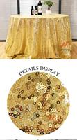 Good Quantity 72inch 180cm Gold Table Cloth Waterproof Round Sequin Tablecloth Wedding