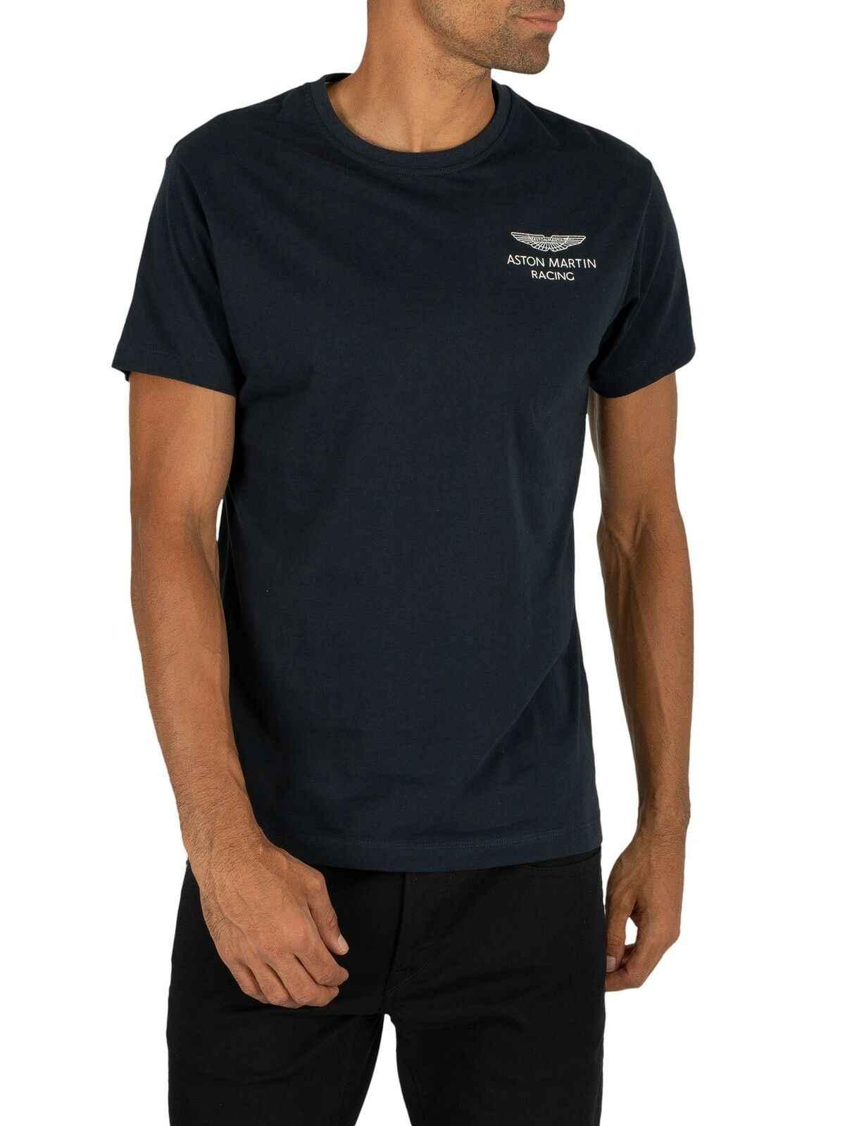 Футболка с логотипом Hackett Men'S London Amr, синяя футболка унисекс, размер S-3Xl