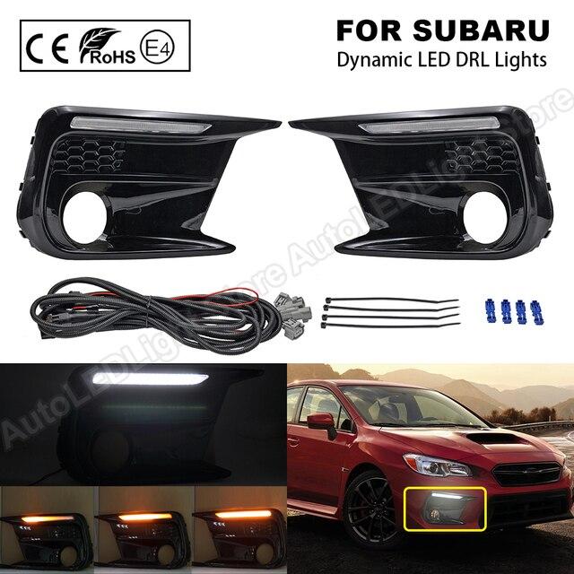 Daytime Running Dynamic Light DRL LED for Subaru WRX 2018~ LED Turn Signal Side Indicator