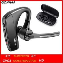 Zestaw słuchawkowy Bluetooth bezprzewodowe słuchawki Bluetooth HD z funkcją redukcji szumów CVC8.0, odpowiedni do smartfonów